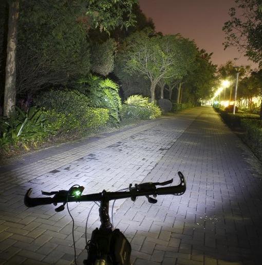 Foco Doble para Bicicleta con Batería